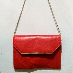 Vintage 1980's Red Leather Purse